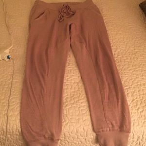 Kendall & Kylie rose colored joggers